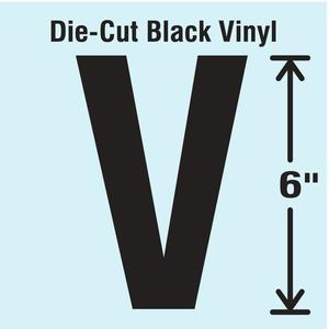 STRANCO INC DBV-SINGLE-6-V Die Cut Letter Label V   AH3ATK 30XD02