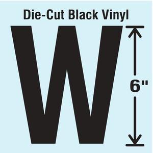 STRANCO INC DBV-SINGLE-6-W Die Cut Letter Label W | AH3ATL 30XD03
