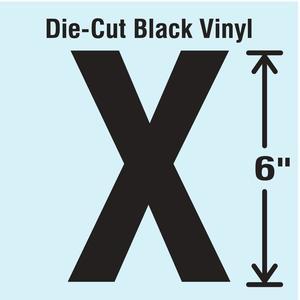STRANCO INC DBV-SINGLE-6-X Die Cut Letter Label X | AH3ATM 30XD04