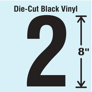 STRANCO INC DBV-SINGLE-8-2 Die Cut Number Label 2 | AH3ATT 30XD09