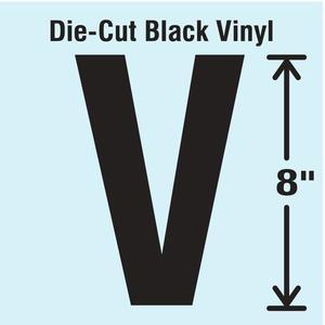 STRANCO INC DBV-SINGLE-8-V Die Cut Letter Label V | AH3AUZ 30XD38