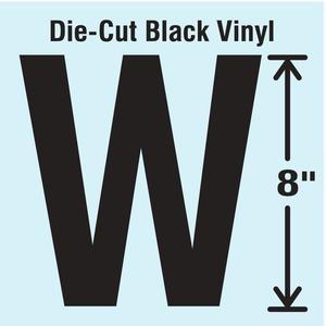 STRANCO INC DBV-SINGLE-8-W Die Cut Letter Label W | AH3AVA 30XD39