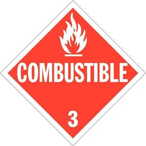 STRANCO INC DOTP-0033-T10 Vehicle Placard Combustible W Pictogram - Pack Of 10 | AF4WVF 9MX74