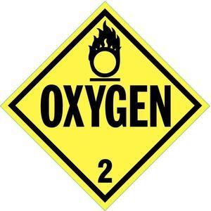 STRANCO INC DOTP-0035-PS Vehicle Placard Oxygen With Pictogram | AF3YRU 8FNM7