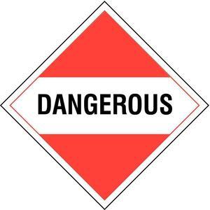 STRANCO INC DOTP-0036-PS Vehicle Placard Dangerous Rigid Styrene   AF4DTJ 8T323