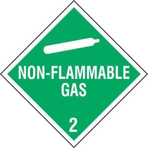 STRANCO INC DOTP-0037-PS Vehicle Placard Non-flammable Gas W Picto | AF6CER 9WHZ8