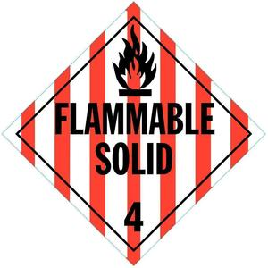 STRANCO INC DOTP-0042-V10 Vehicle Placard Flam Solid W Picto - Pack Of 10 | AF3YQQ 8FM33