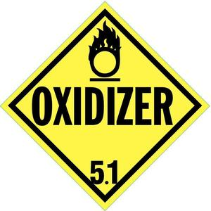 STRANCO INC DOTP-0045-V10 Vehicle Placard Oxidizer 5.1 W Picto - Pack Of 10   AF6CGH 9WJY3