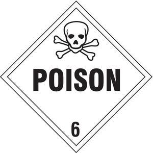 STRANCO INC DOTP-0047-V10 Vehicle Placard Poison W Pictogram - Pack Of 10 | AF4VUT 9LUF8