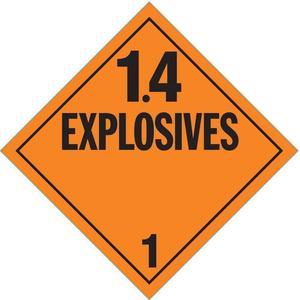 STRANCO INC DOTP-0100-V10 Vehicle Placard 1.4 Explosive Adhesive Vinyl - Pack Of 10 | AF4XWR 9P250