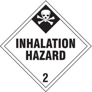 STRANCO INC DOTP-0104-V10 Vehicle Placard Inhalation Hazard - Pack Of 10 | AF4ZXU 9THY5