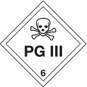 STRANCO INC DOTP-0105-T10 Vehicle Placard Pg Iii And Skull Pic - Pack Of 10 | AF4XWQ 9P248
