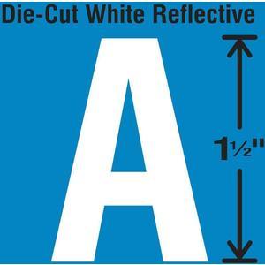 STRANCO INC DWR-1.5-A-5 Die-Cut Reflective Letter Label A PK5 | AH3ABK 30WY53