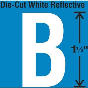 STRANCO INC DWR-1.5-B-5 Die-Cut Reflective Letter Label B PK5 | AH3ABL 30WY54
