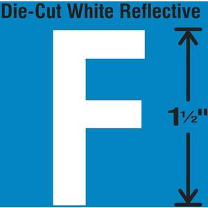 STRANCO INC DWR-1.5-F-5 Die-Cut Reflective Letter Label F PK5   AH3ABQ 30WY58