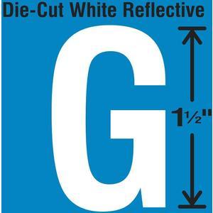 STRANCO INC DWR-1.5-G-5 Die-Cut Reflective Letter Label G PK5   AH3ABR 30WY59
