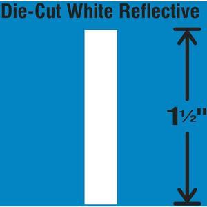 STRANCO INC DWR-1.5-I-5 Die-Cut Reflective Letter Label I PK5 | AH3ABU 30WY61