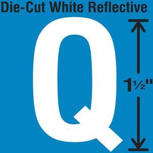 STRANCO INC DWR-1.5-Q-5 Die-Cut Reflective Letter Label Q PK5 | AH3ACC 30WY69