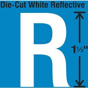 STRANCO INC DWR-1.5-R-5 Die-Cut Reflective Letter Label R PK5   AH3ACD 30WY70