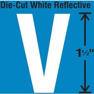 STRANCO INC DWR-1.5-V-5 Die-Cut Reflective Letter Label V PK5 | AH3ACH 30WY74