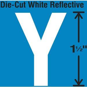 STRANCO INC DWR-1.5-Y-5 Die-Cut Reflective Letter Label Y PK5 | AH3ACL 30WY77