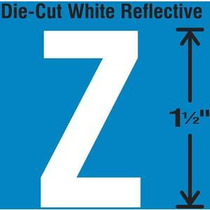 STRANCO INC DWR-1.5-Z-5 Die-Cut Reflective Letter Label Z PK5 | AH3ACM 30WY78