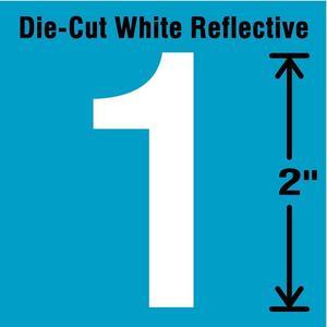 STRANCO INC DWR-2-1-5 Number Label 1 White - Pack Of 5 | AD4JCJ 41P969