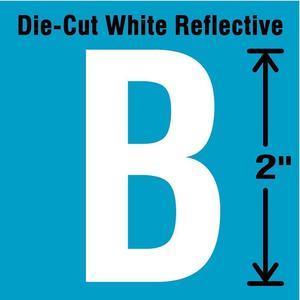 STRANCO INC DWR-2-B-5 Letter Label B White - Pack Of 5 | AD4JCV 41P979