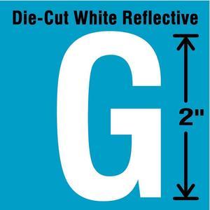 STRANCO INC DWR-2-G-5 Letter Label G White - Pack Of 5 | AD4JDA 41P984