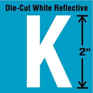 STRANCO INC DWR-2-K-5 Letter Label K White - Pack Of 5   AD4JDE 41P988