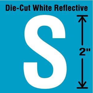 STRANCO INC DWR-2-S-5 Letter Label S White - Pack Of 5 | AD4JDN 41P996