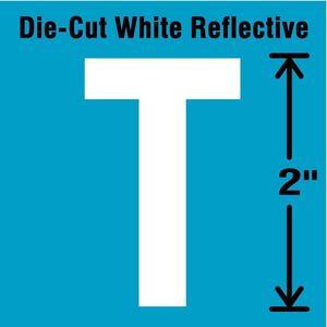 STRANCO INC DWR-2-T-5 Letter Label T White - Pack Of 5 | AD4JDP 41P997