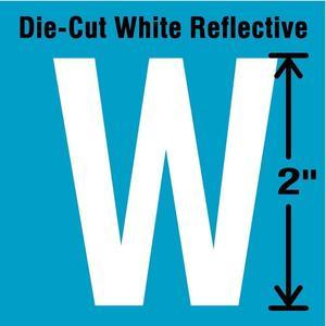 STRANCO INC DWR-2-W-5 Letter Label W White - Pack Of 5 | AD4JDT 41R001