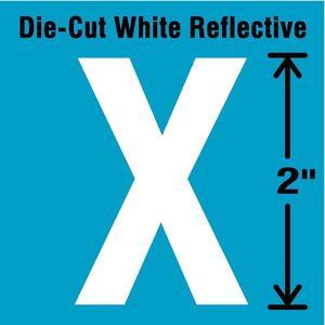 STRANCO INC DWR-2-X-5 Letter Label x White - Pack Of 5   AD4JDU 41R002
