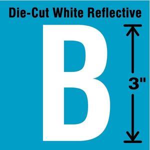 STRANCO INC DWR-3-B-5 Letter Label B White - Pack Of 5   AD4JEJ 41R016