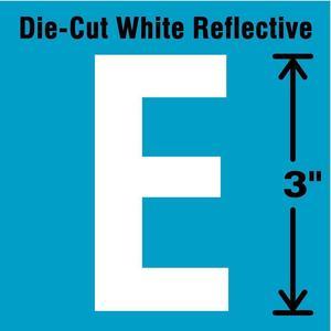 STRANCO INC DWR-3-E-5 Letter Label E White - Pack Of 5   AD4JEM 41R019