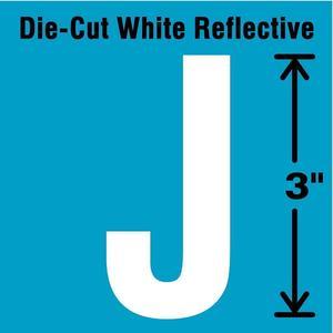 STRANCO INC DWR-3-J-5 Letter Label J White - Pack Of 5   AD4JET 41R024