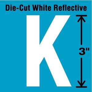 STRANCO INC DWR-3-K-5 Letter Label K White - Pack Of 5   AD4JEU 41R025