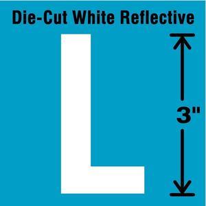 STRANCO INC DWR-3-L-5 Letter Label L White - Pack Of 5   AD4JEV 41R026