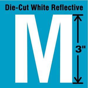 STRANCO INC DWR-3-M-5 Letter Label M White - Pack Of 5   AD4JEW 41R027