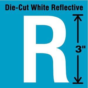 STRANCO INC DWR-3-R-5 Letter Label R White - Pack Of 5   AD4JFB 41R032
