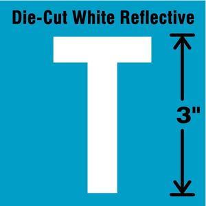 STRANCO INC DWR-3-T-5 Letter Label T White - Pack Of 5   AD4JFD 41R034