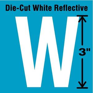 STRANCO INC DWR-3-W-5 Letter Label W White - Pack Of 5 | AD4JFG 41R037