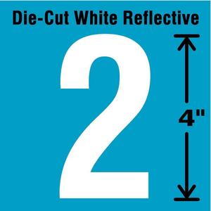 STRANCO INC DWR-4-2-5 Number Label 2 White - Pack Of 5 | AD4JFN 41R043