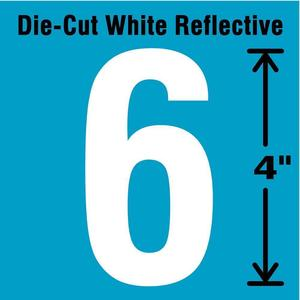 STRANCO INC DWR-4-6-5 Number Label 6 White - Pack Of 5   AD4JFT 41R047
