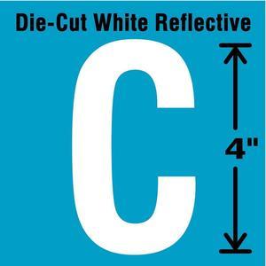STRANCO INC DWR-4-C-5 Letter Label C White - Pack Of 5 | AD4JFZ 41R053