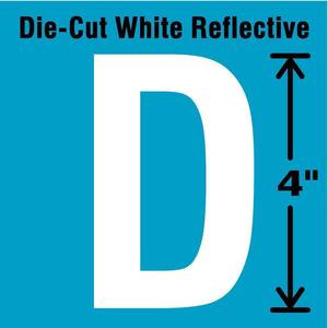 STRANCO INC DWR-4-D-5 Letter Label D White - Pack Of 5   AD4JGA 41R054