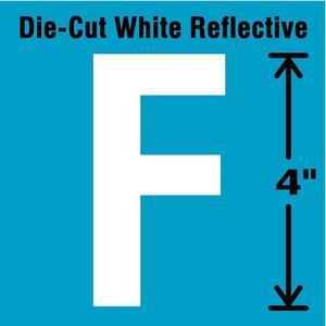 STRANCO INC DWR-4-F-5 Letter Label F White - Pack Of 5   AD4JGC 41R056