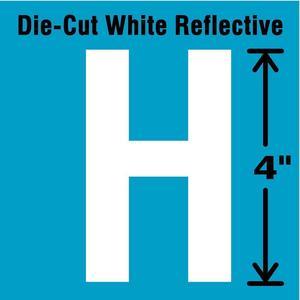 STRANCO INC DWR-4-H-5 Letter Label H White - Pack Of 5 | AD4JGE 41R058