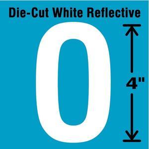 STRANCO INC DWR-4-O-5 Letter Label O White - Pack Of 5 | AD4JGM 41R065